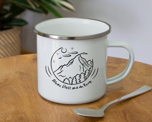 Berggeschenke Emaille - Tasse
