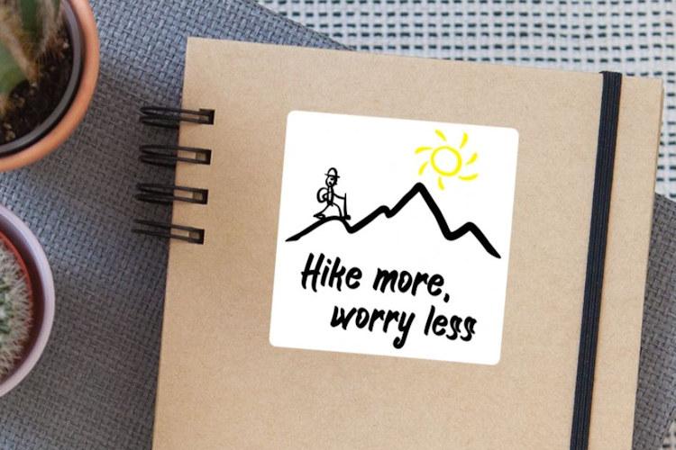 Hike more, worry less - Lustige Geschenke für Wanderer