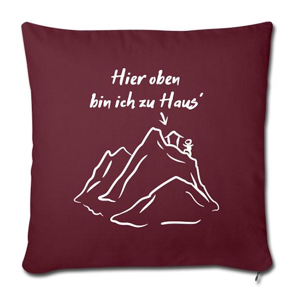 Sofakissen mit lustigem Bergmotiven