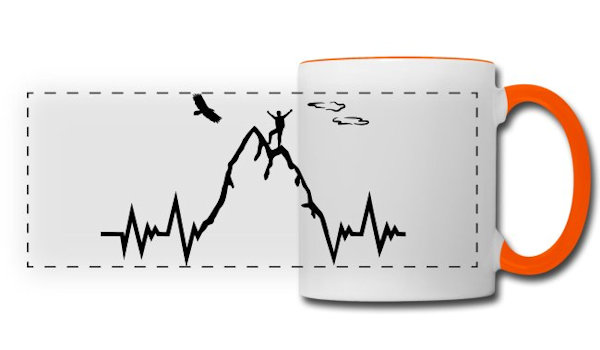 Berg Herzschlag Tasse