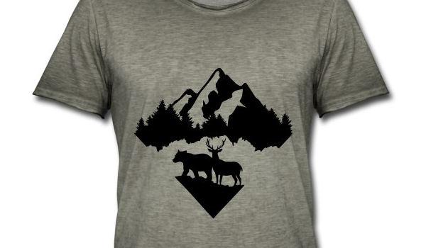 Berg T-Shirt für Männer