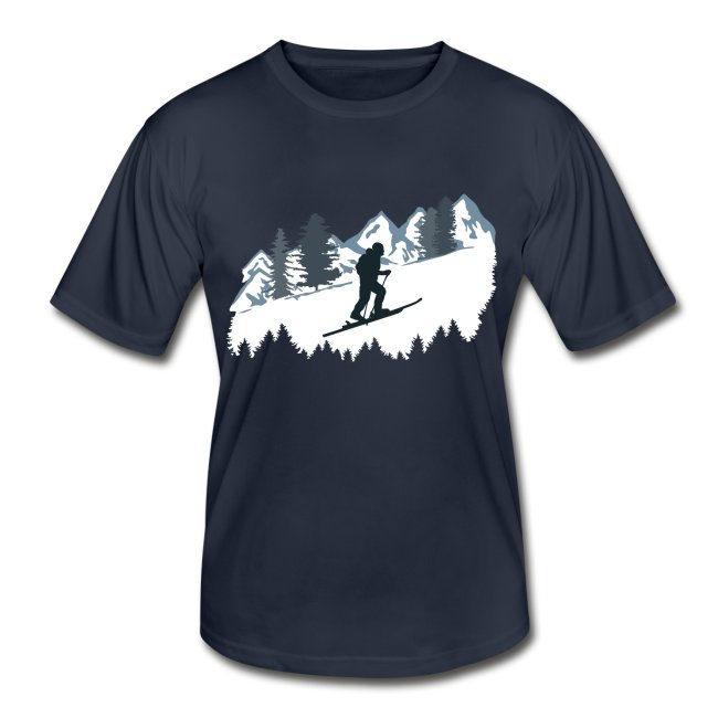 Funktionsshirt mit Skitouren Bergmotiv, Männer
