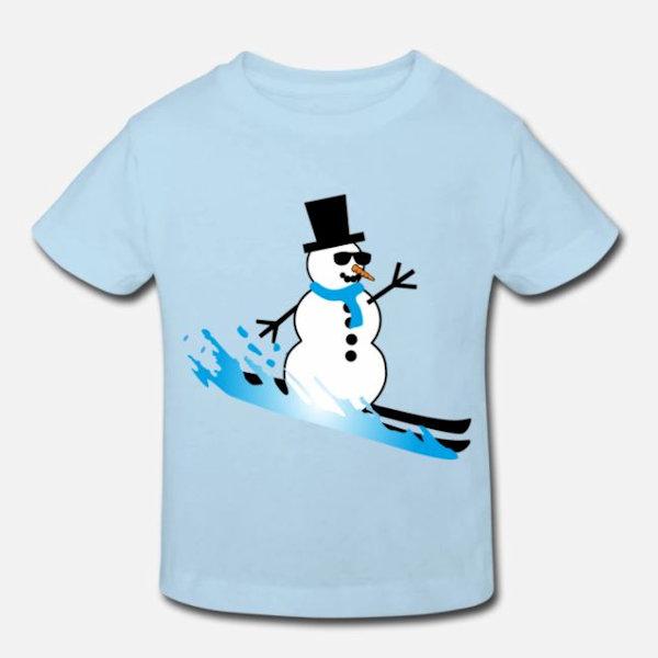 Kinder T-Shirt mit lustigem Schneemann