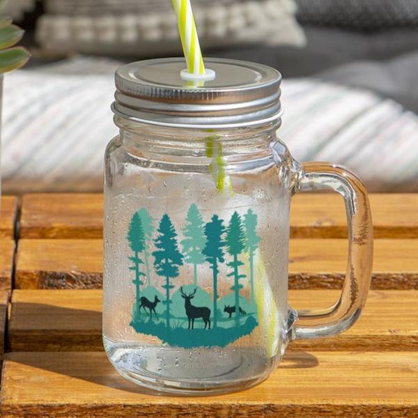 Henkelglas für sommerliche Getränke